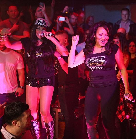 Salt-N-Pepa perform at at 1 OAK Las Vegas on Tuesday, March 24