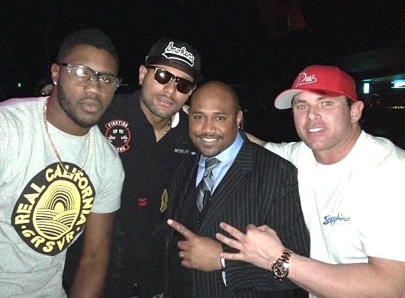 Carolina Panthers' Louis Murphy and Oakland Raiders' Darrius Heyward-Bey Party at Sapphire Las Vegas