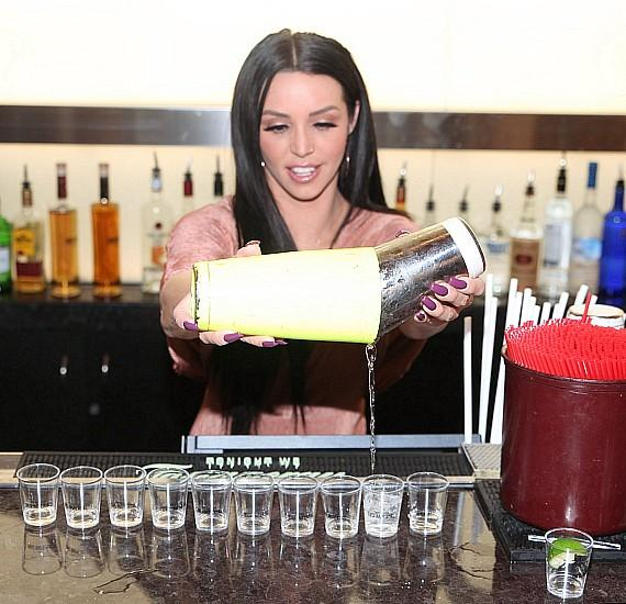 "Scheana Marie from ""Vanderpump Rules"" pours Oro Imperial Tequila Shots at D Bar Las Vegas"