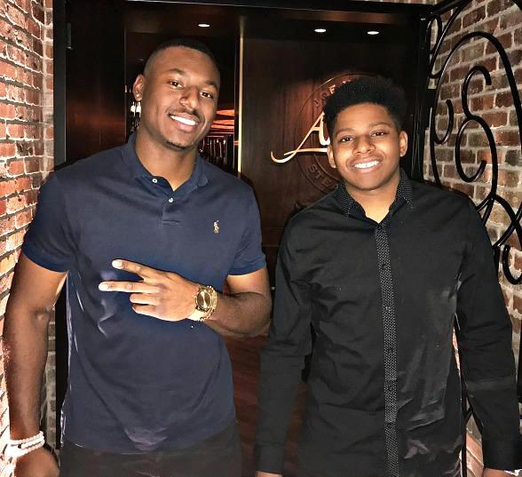 Seattle Mariners No.1 Prospect Kyle Lewis Dines at Andiamo Italian Steakhouse