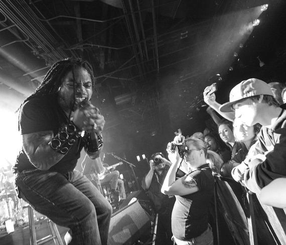 Sevendust performs an acoustic concert at Vinyl in the The Hard Rock Hotel Las Vegas