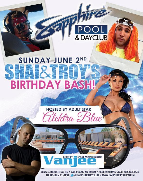 Actress Alektra Blue to Host Shai and Troy's Birthday Bash at Sapphire Pool and Dayclub Sunday, June 2