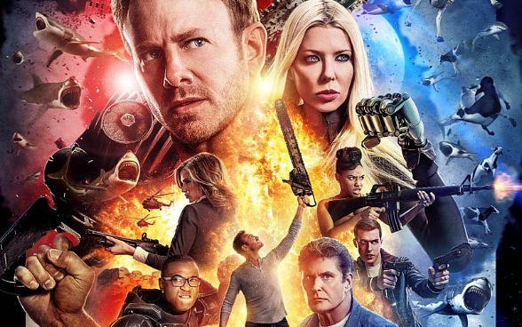 "Meet Ian Ziering, Tara Reid, Gary Busey and more at ""Sharknado: The 4th Awakens"" Official Movie Premiere at The Stratosphere July 31"