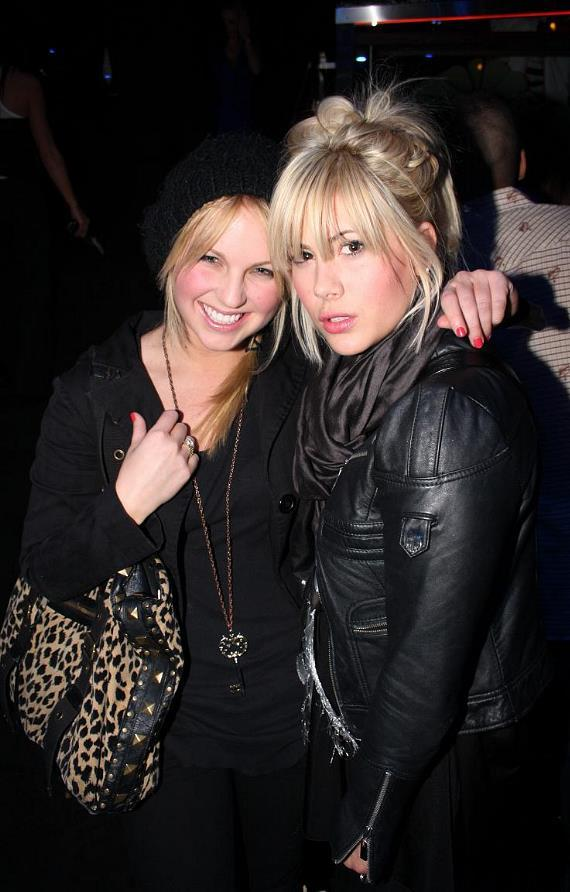 Shayne Lamas (right) with friend at The Bank Nightclub