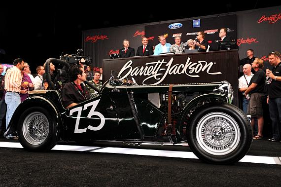 Carroll Shelby's first road race car, a 1949 MG TC, sold for $313,500