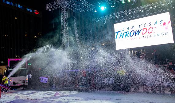 Snow machines at Las Vegas Throw Down Action Sports/Music Festival