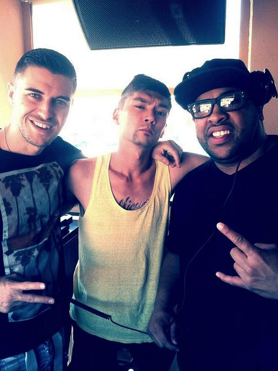 In the DJ booth at Sapphire Pool & Dayclub