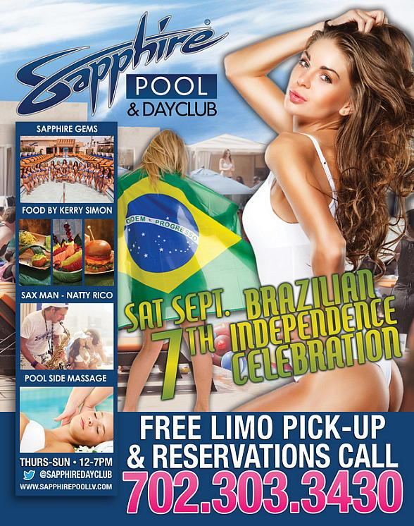 Sapphire Pool & Dayclub to Host Brazilian Independence Day Party Saturday, Sept. 7