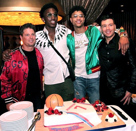 Stanley Johnson, Kelly Oubre, NBA Don Ressler and Nevada Stupak dine at Andiamo Las Vegas
