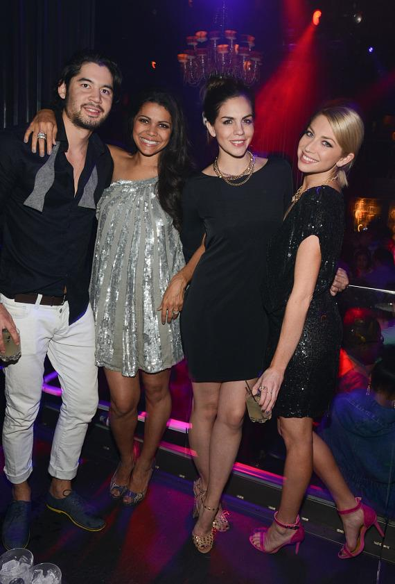 Stassi Schroeder with Katie Maloney and friends at Body English Nightclub