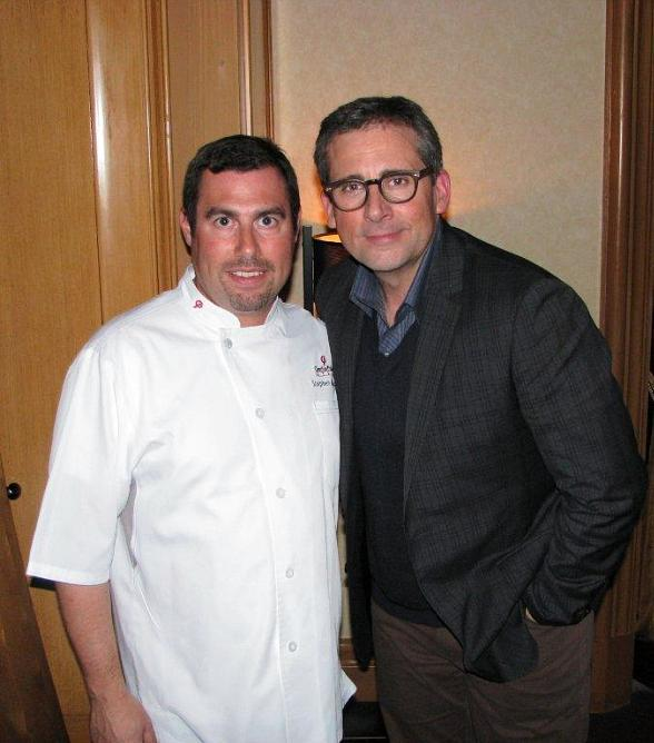 Steve Carell at Charlie Palmer Steak in Las Vegas