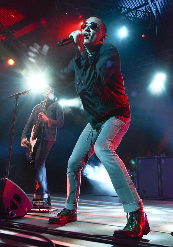 Stone Temple Pilots with Chester Bennington perform at The Joint in Hard Rock Hotel Las Vegas