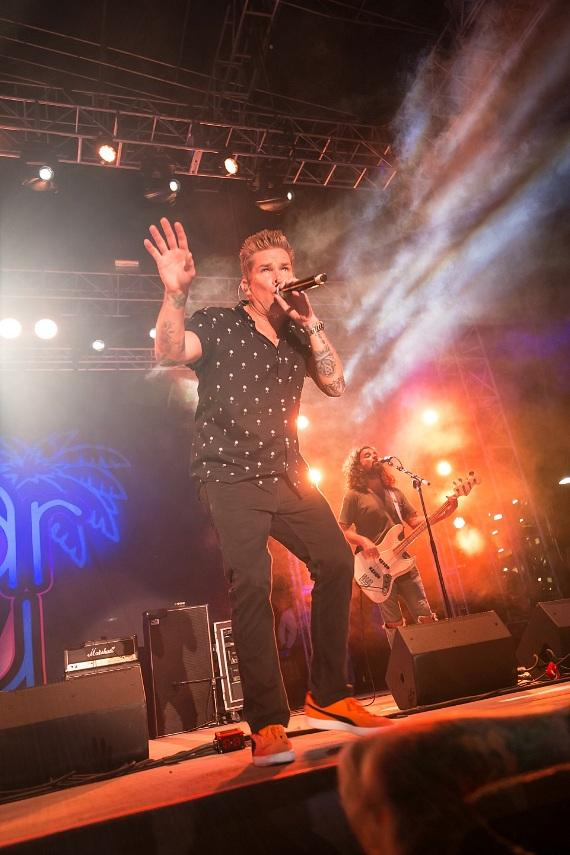 Sugar Ray singer Mark Mcgrath performs at Downtown Las Vegas Events Center