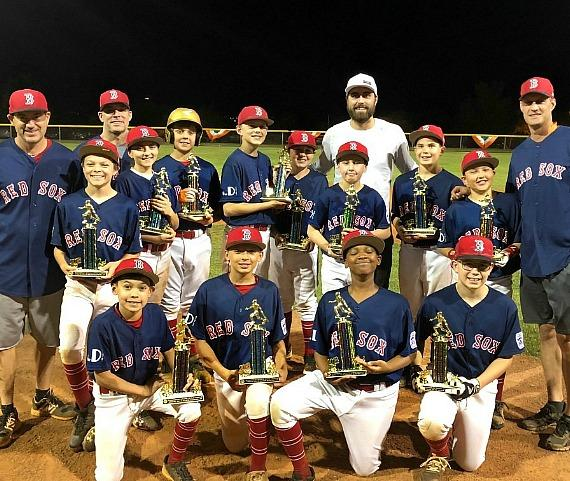 Summerlin South Red Sox Majors Team with Vegas Golden Knights player Alex Tuch