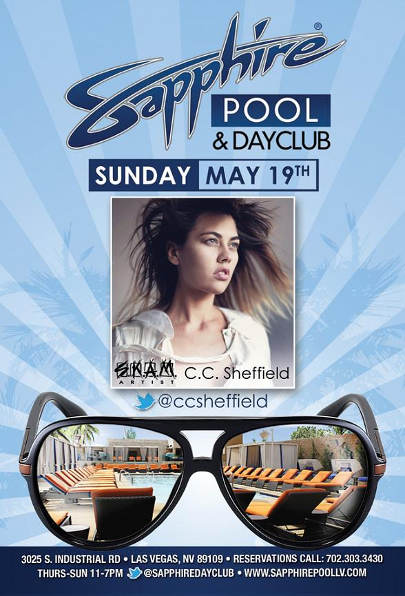 SKAM Artist C.C. Sheffield to Perform at Sapphire Pool & Dayclub Sunday, May 19