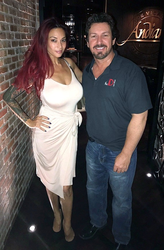 Tera Patrick with the D executive Richard Wilk at Andiamo Las Vegas