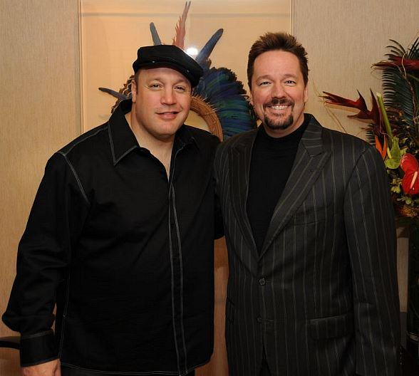 Kevin James with Terry Fator at The Mirage