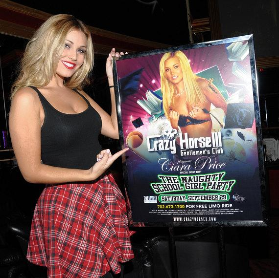 Ciara Price with poster at Crazy Horse III