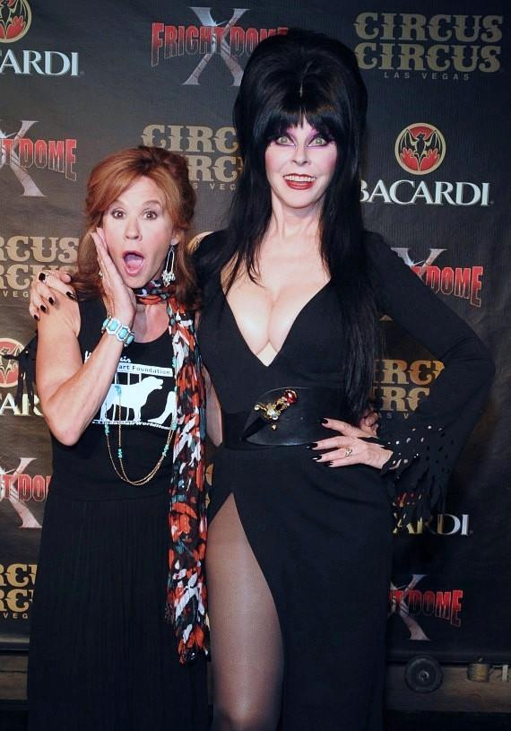 Exorcist Star Linda Blair and Elvira - Mistress of the Dark at the Grand Opening of Fright Dome