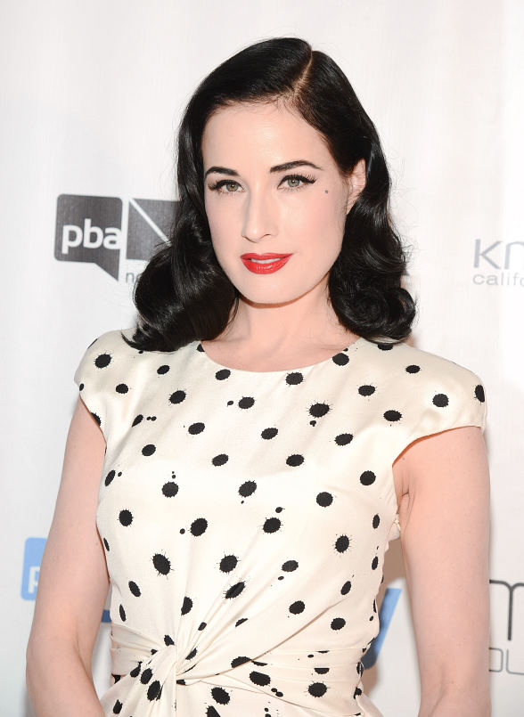 Dita Von Teese at 2013 North American Hairstyling Awards at Mandalay Bay
