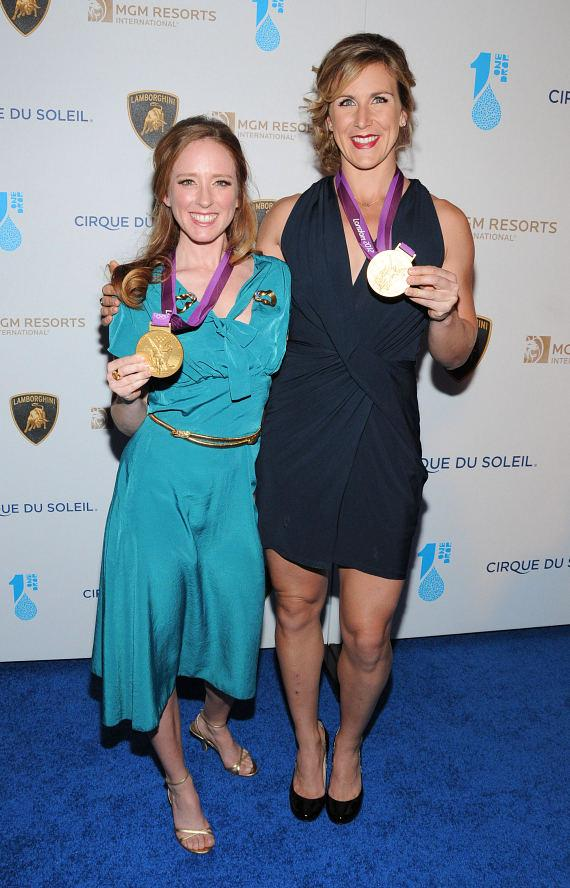 Olympic rowers Mary Whipple and Erin Cafaro