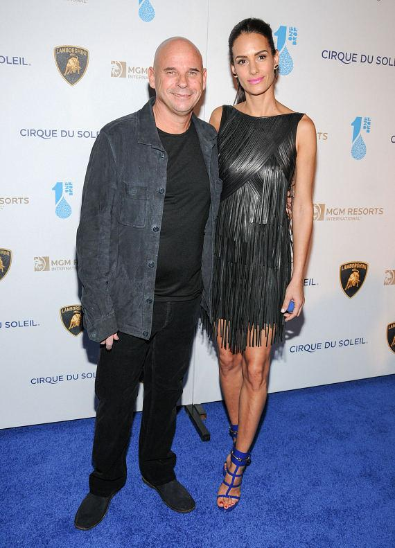 Guy Laliberte and Claudia Barila