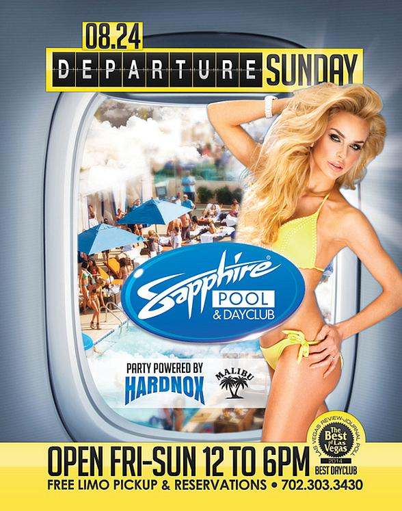 """Sapphire Pool & Day Club to Host """"Departure Sunday"""" with Music by Hardnox August 24"""