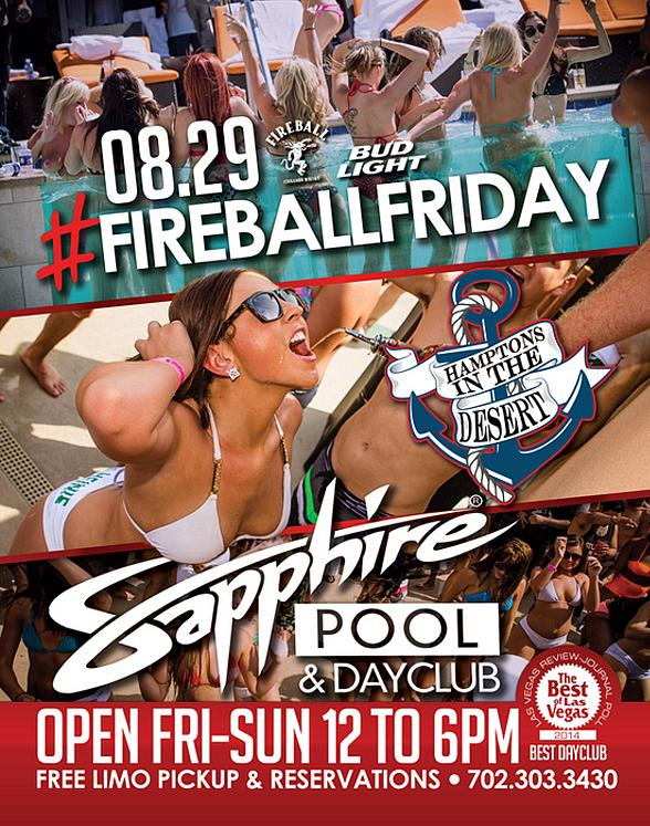 Sapphire Pool & Day Club to Host #FireballFriday with Music by HardNox August 29
