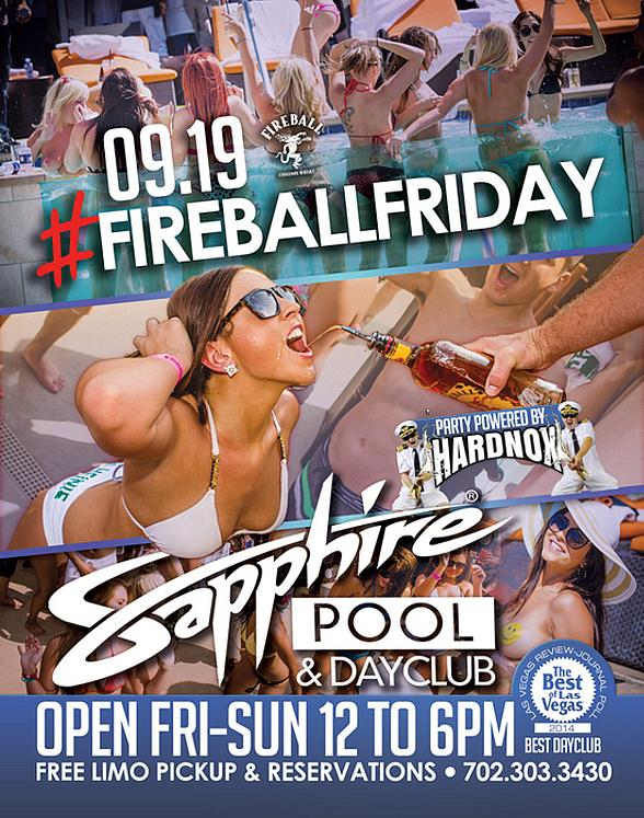 Sapphire Pool & Day Club to Host Fireball Friday with Music by HardNox Sept. 19
