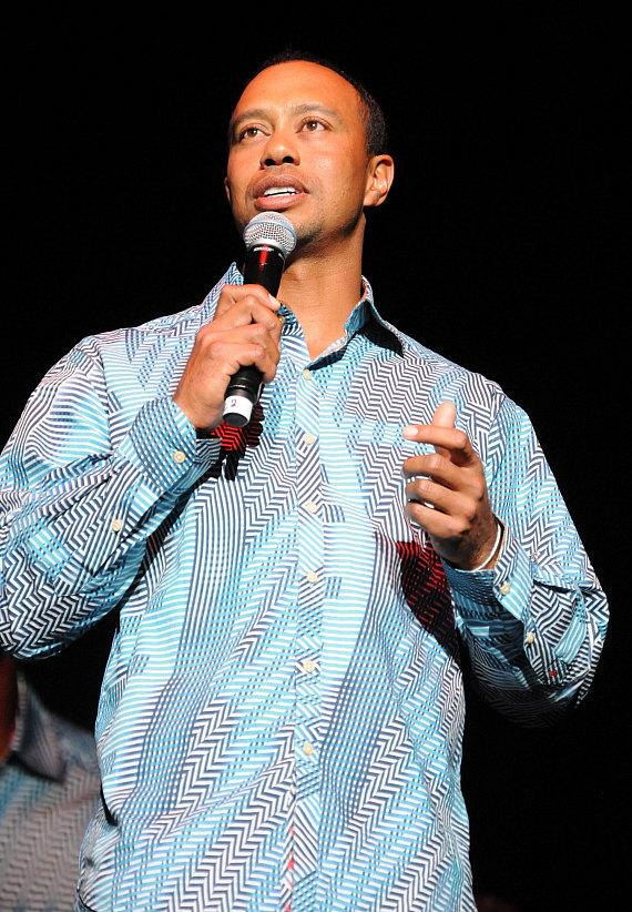 Tiger Woods on stage at Tiger Jam at Mandalay Bay Events Center