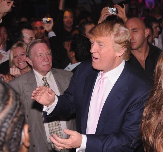 Donald Trump at XS Nightclub in Wynn Las Vegas