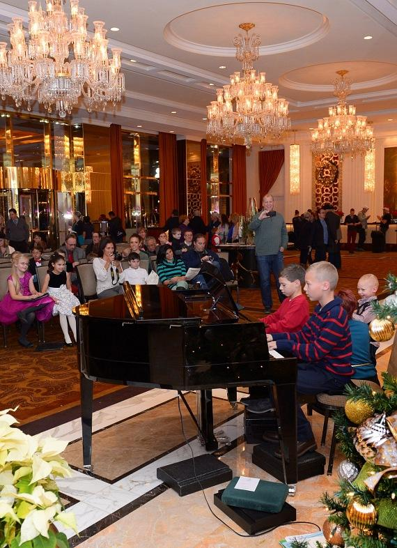 Recital in Trump Int'l Hotel grand lobby by students from Cynthia Man Studio
