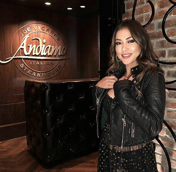 UFC Ring Girl/Model Arianny Celeste Celebrates Her Birthday at Andiamo Italian Steakhouse in Las Vegas
