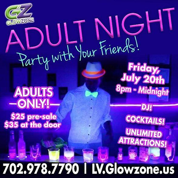Adult Nights at Glowzone in Las Vegas
