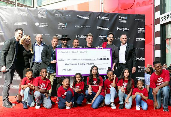 Backstreet Boys with Boys & Girls Clubs of Southern Nevada