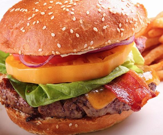 Delmonico's bacon cheeseburger