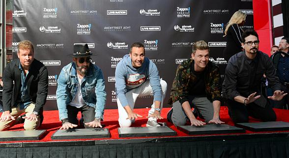 Backstreet Boys Honored with Iconic Handprint Ceremony at Planet Hollywood Resort & Casino in Las Vegas