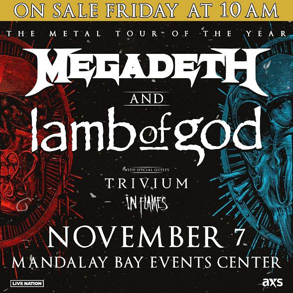 Megadeth and Lamb of God Announce 2020 Tour Across North With Stop at Mandalay Bay Events Center November 7, 2020