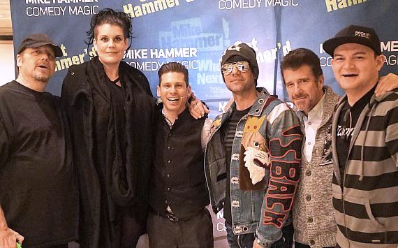 "Amazing Jonathan, Anastasia, Mike Hammer, Criss Angel, Banachek and Nick Lange  at ""The Mike Hammer Comedy & Magic Show"" at The Four Queens Hotel & Casino in Downtown Las Vegas"