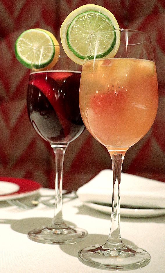 Delmonico's Red and white sangria