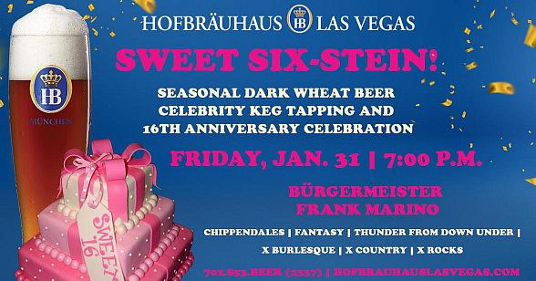Hofbräuhaus Las Vegas to Celebrate 16th Anniversary With Largest-Ever Celebrity Keg Tapping, Special Menu and Cake Cutting