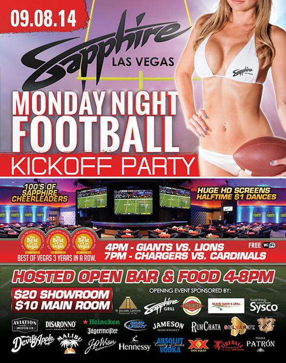 2014 Monday Night Football Kickoff Party at Sapphire Las Vegas Sept. 8