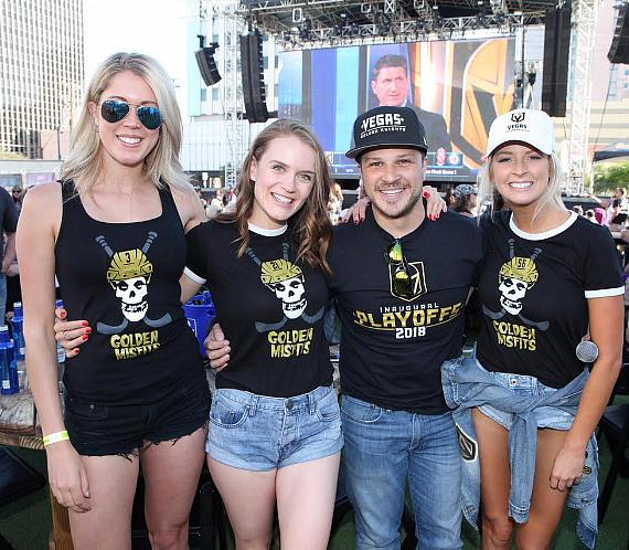 "Mark Shunock and the ""Golden Misfits"" at Vegas Golden Knights Official Watch Party at Downtown Las Vegas Events Center"