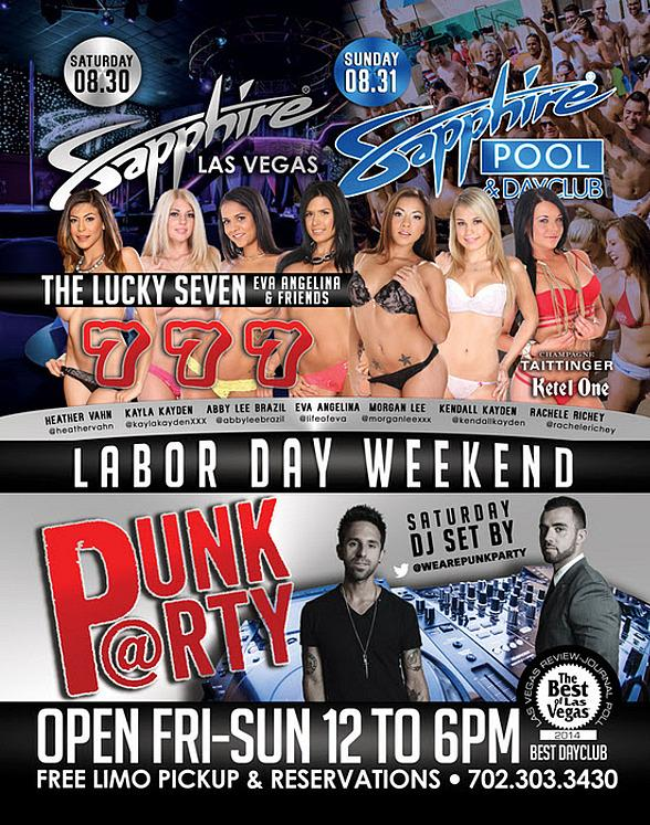 Labor Day Weekend 2014 to Feature Punk Party with The Lucky Seven at Sapphire Pool & Dayclub