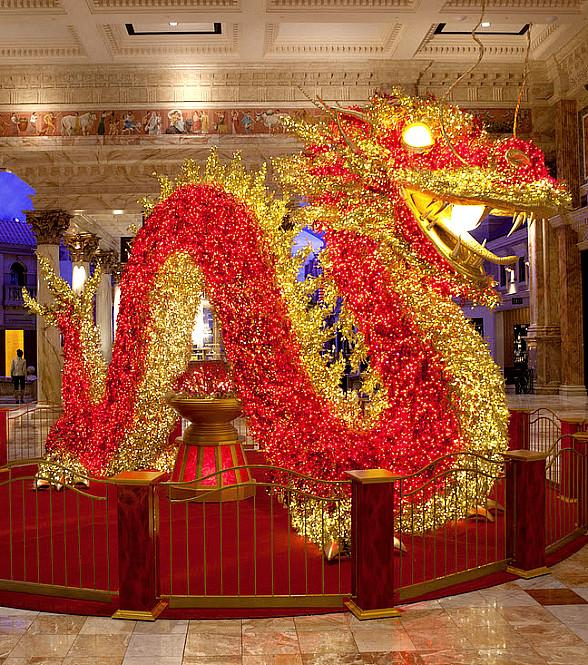 The Forum Shops at Caesars Palace to Install Giant Illuminated Dragon in Preparation for Chinese New Year 2019