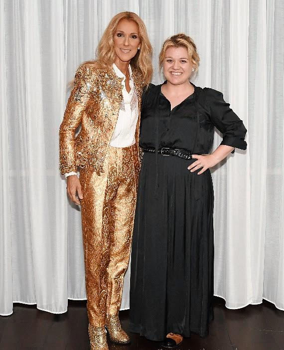 Celine Dion and Kelly Clarkson Find Connection at The Colosseum at Caesars Palace Las Vegas