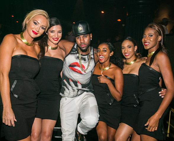 Jason Derulo in Body English Nightclub at Hard Rock Hotel & Casino in Las Vegas