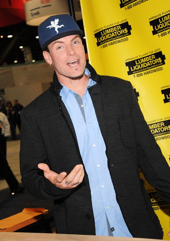 Vanilla Ice in Lumber Liquidators Booth at 2013 Int'l Builders' Show