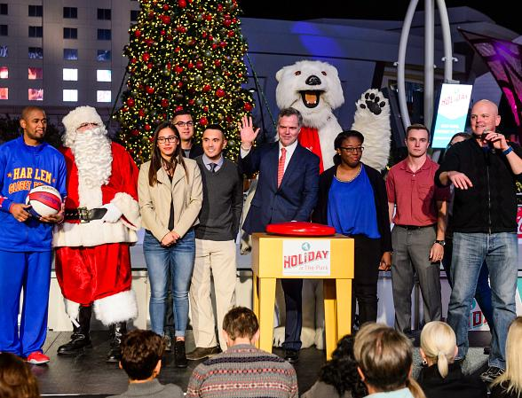 Holiday at The Park Celebrates the Season with First-Ever Tree Lighting at Toshiba Plaza
