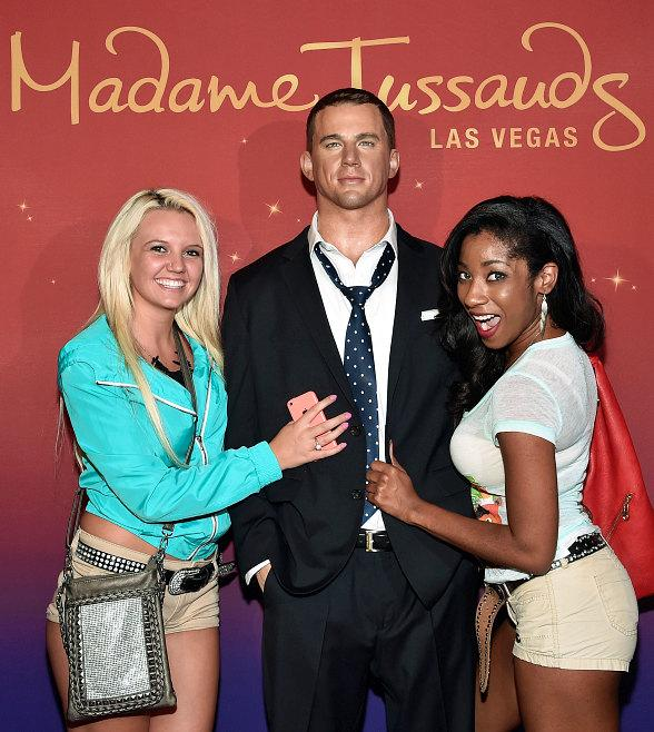 """Magic Mike XXL"" Fans Take Selfies with Madame Tussauds Las Vegas' Channing Tatum During Red Carpet Preview Screening"
